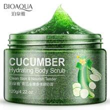 BIOAQUA Cucumber essence To skin, smooth skin Body scrub chamfer Rub the mud exfoliating body cream