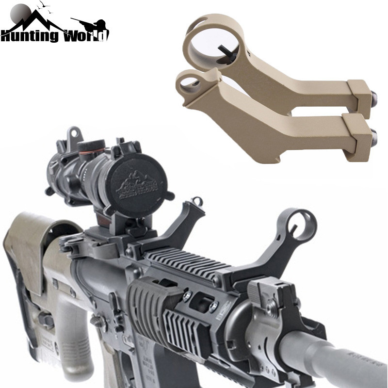 Tactical 45 Degree Angle Offset Side Backup Iron Sight Front Rear Sight Set Fit 20mm Picatinny Rail Airsoft Handguard Hunting