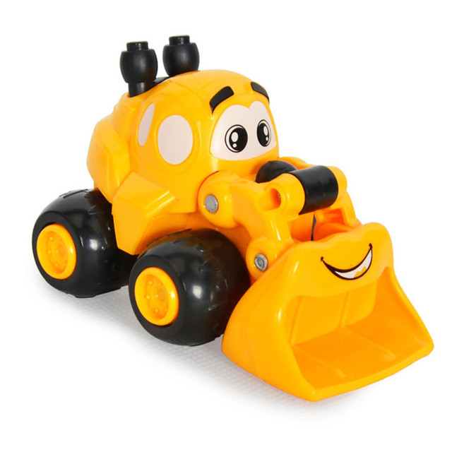 US $3 99 |2018 Kawaii Mini Cartoon Engineering Vehicles Inertial Car  Excavator Sand Truck Forklift Model Children Best Gifts Toys-in Diecasts &  Toy