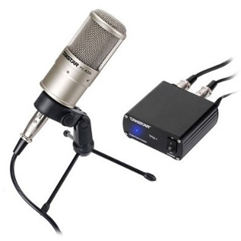 TAKSTAR PC-K200 Professional Studio Condenser Microphone Side-address Microphone With Phantom Power Specification original takstar pc k200 studio condenser microphone professional recording mike music create broadcast capacitor microphone