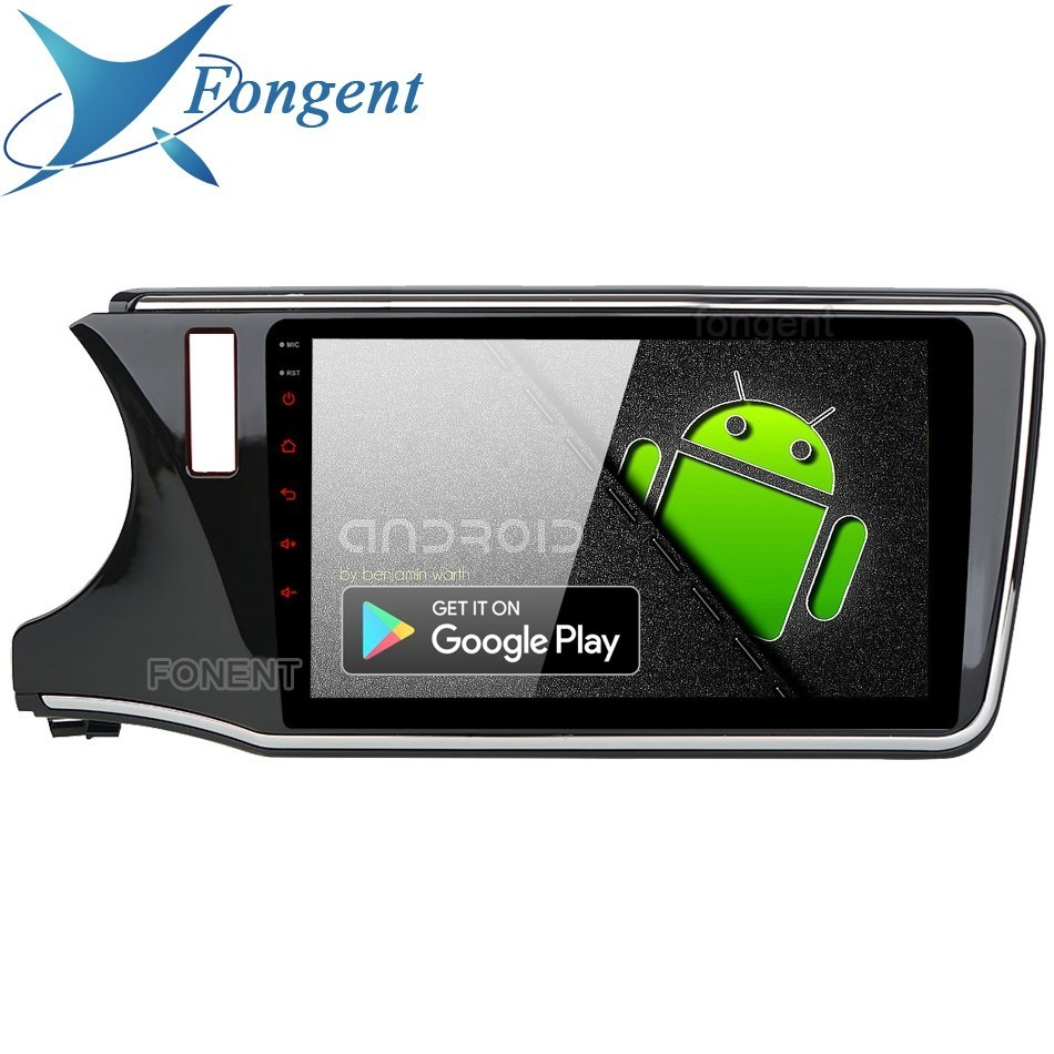 """10.2 """"IPS écran Android 9.0 Radio voiture 1 Din pour Honda City 2015 2016 2017 GPS 1080 P vidéo DSP gauche droite conduite LHD RHD"""