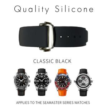 527e8063eb64 20mm 22mm 21mm relojes de silicona bandas para Omega Seamaster Planet Ocean  correa de reloj de pulsera de goma deportes para Longines