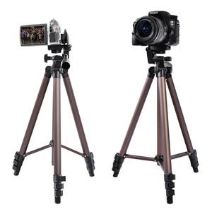 Image 3 - Fusitu WT3130 Aluminum Alloy Tripods Mini Camera Tripod Stand With Smartphone Holder 1/4 Screw For DSLR Camera Mobile Phone