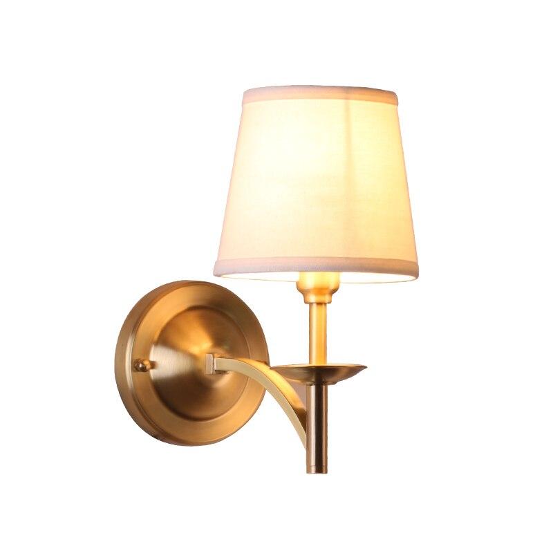 Kung Amerikanischen Stil Kupfer Wandleuchte E14 3 Watt Led Lampe Messing Mode Schlafzimmer Wohnzimmer