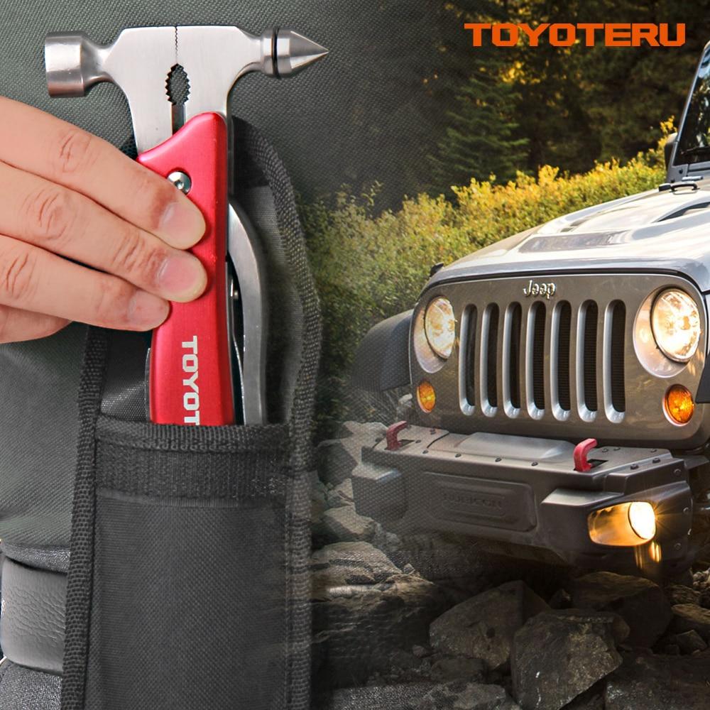 Купить с кэшбэком TOYOTERU Hatchet emergency safety hammer multifunction Axe stainless steel rescue weapon Outdoor Survival tool pliers knife