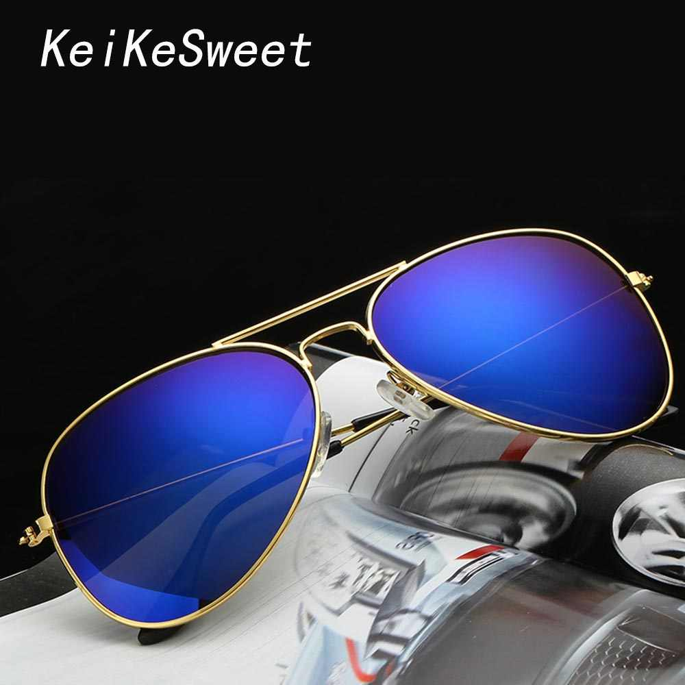 KeiKeSweet Brand Designer Men Women Rays Outdoor Fashion Luxury Sunglasses Hot New Metal Vintage Top Party Sexy Sun Glasses
