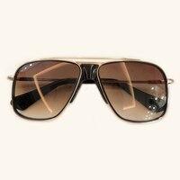 2019 Newest square frame vintage sunglasses Men Big Size Sun Glasses for Men Shades Gold gray UV400 Eyewear