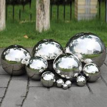 Блестящий шар из нержавеющей стали, зеркальный полый шар для украшения дома и сада, 19 мм~ 300 мм