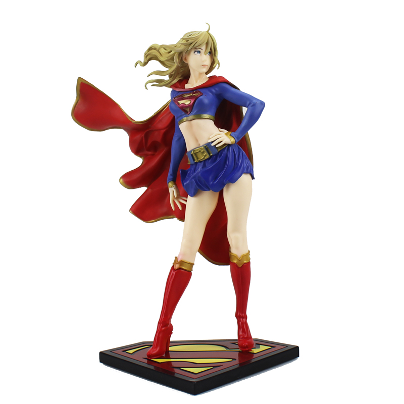 Free Shipping Sexy 8 DC Hero Justice League Super Girl Boxed 21cm PVC Anime Action Figure Collection Model Doll Toys Gift цена