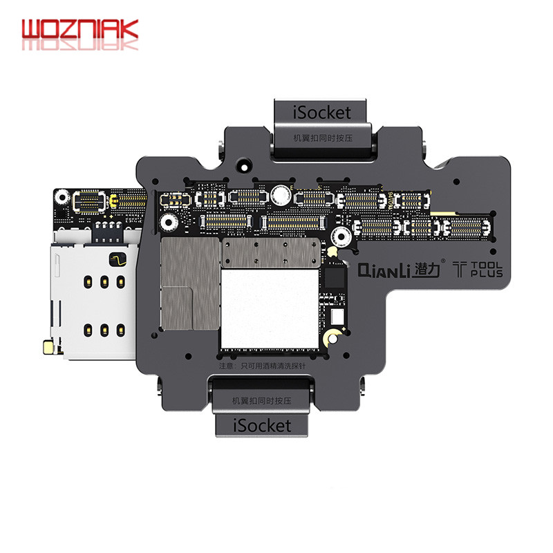 WOZNIAK QIANLI iSocket for iPhone x xs xs max motherboard test fixture For IPHONEX double deck