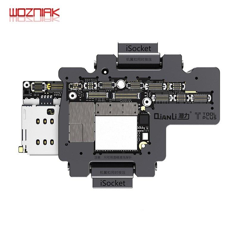 WOZNIAK QIANLI iSocket pour iPhone x xs/xs max appareil de test de carte mère pour iPhone double pont testeur de fonction de carte mère