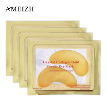 AMEIZII 2Pcs=1Pair 24K Gold Crystal Collagen Eye Mask Patches For Care Dark Circles Remove Anti-Aging Wrinkle Skin