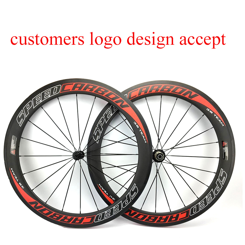 Carbon Fiber Wheels >> Us 367 5 25 Off Speedcarbon 60mm Carbon Bike Wheels 700c Road Bike Wheel Customers Logo Design Carbon Fiber Wheels 23mm In Bicycle Wheel From Sports