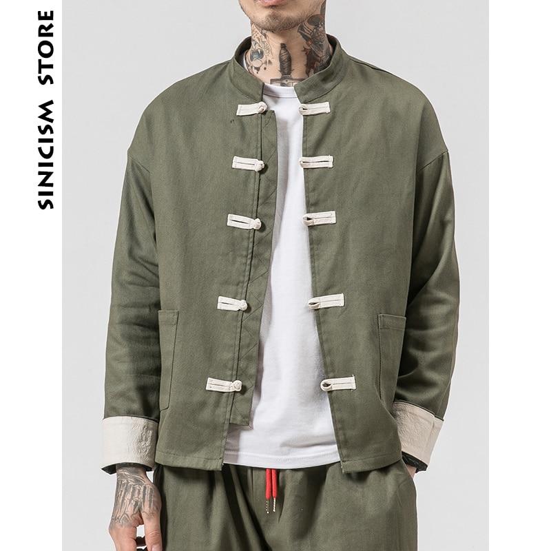 Sinicism Store Man Windbreaker 2019 Mens Casual Pocket Black Solid  Bomber Jacket Male Harajuku Button Retro Fashions Jacket