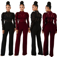 Women Clubwear Playsuit Casual Long Sleeve Party Jumpsuit Romper Trousers Pants NEW Dropshipping