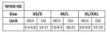WNGH2 Size Information