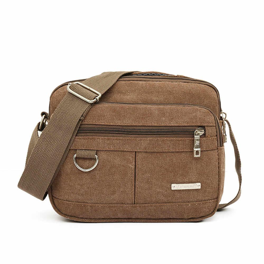 Bolsa de lona masculina bolsa de viagem casual bolsa de crossbody masculina sacos de mensageiro