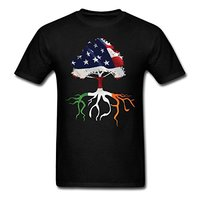 2017 Fashion Hot Sell USA Flag Irish Roots Men S T Shirt 100 Cotton O Neck