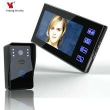 freeship 7 inch Color Video Door Phone Intercom Doorbell System + 1 Monitor self defense outdoor security camera door intercom