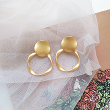 Irregular gold ear studs European and American cross-border jewelry creative earrings for women