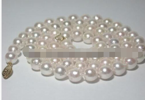 Free shipping Jew.656 akoya 8-9mm white AAA+ pearl necklace&earrins sets цена и фото