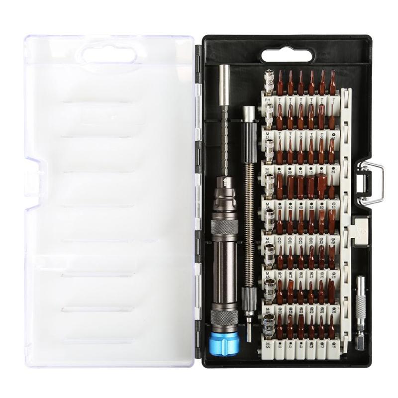 60 em 1 Cromo Vanádio Kit de Ferramentas de chave de Fenda de Precisão Magnética Chave de Fenda Set para o Telefone Tablet Compact Repair Ferramenta de Manutenção