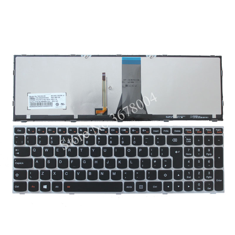 цена на NEW FOR LENOVO Z50-70 Z50-70A Z50-75 Z50-80E Z51-70 Z51-70A LAPTOP UK QWERTY KEYBOARD Backlit 11S25215251 5N20H03442 25215251