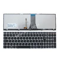Nowy dla LENOVO Z50 70 Z50 70A Z50 75 Z50 80E Z51 70 Z51 70A laptopa wielkiej brytanii QWERTY klawiatura z podświetleniem 11S25215251 5N20H03442 25215251 w Zamienne klawiatury od Komputer i biuro na