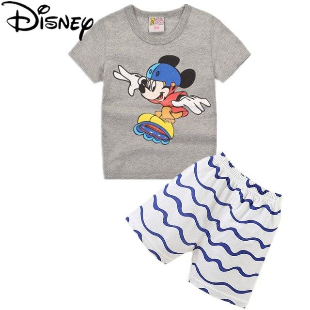 fc525a251cdb5 Disney spider man garçons vêtements définit été marque casual garçons plaid  manches courtes T-shirt