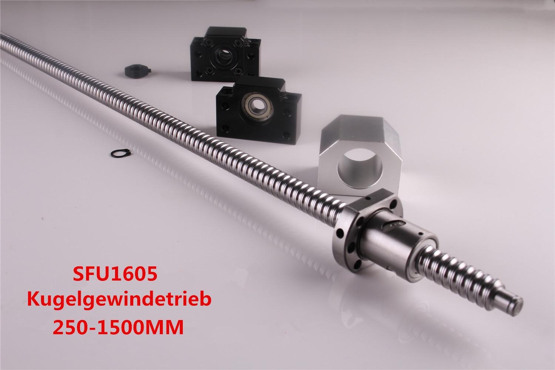Ballscrew SFU1605-250 to1500mm с гайкой + 1 комплект BK/BF 12 + Корпус шариковинтовой передачи для ЧПУ