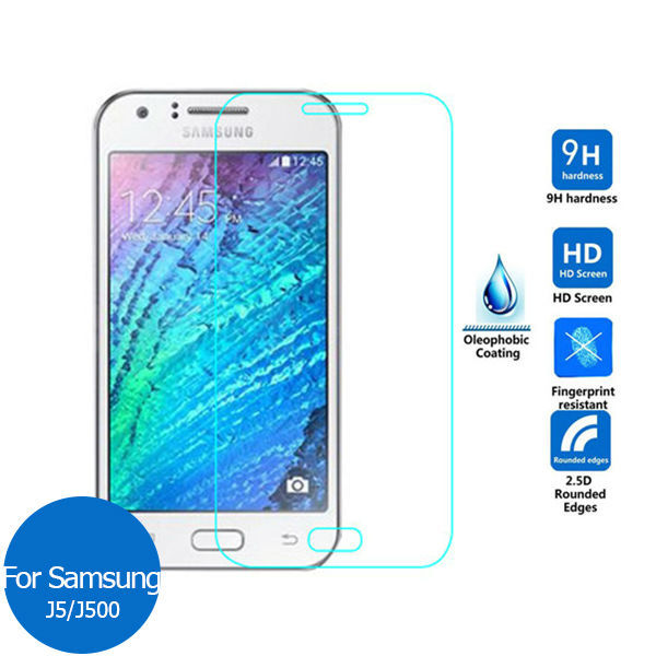 2PCS For Samsung Galaxy J5 2015 Tempered Glass Screen Protector 9h Safety Protective Film on J 5 500F 500H J500H J500F SM-J500H