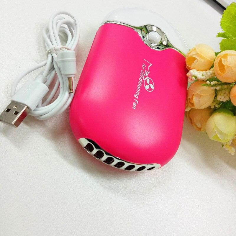 Wholesale Mini Pocket font b USB b font Fan Air Conditioning Fan Rechargeable font b USB