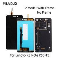 Оригинальный ЖК-дисплей Дисплей для lenovo K3 Примечание K50 K50-T5 Сенсорный экран планшета Ассамблеи Замена 5,5