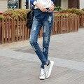 2016 Новый Женский Девушка Друг Синий Отверстия Рваные Джинсы Женские Джинсовые брюки женские Джинсы для Женщин Брюки для Женщин Плюс Большой Размер
