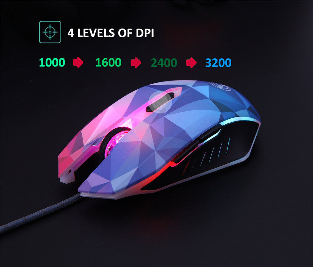 Original Hongsund Dazzle Colour Diamond Edition Gaming Mouse Wired Mouse Gamer Optical Computer Mouse For Pro Gamer 2