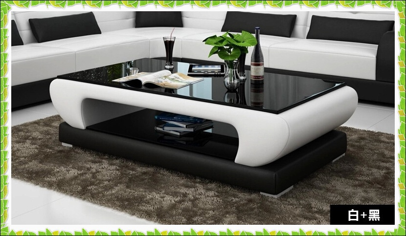 Table Leather Living Room Sofa