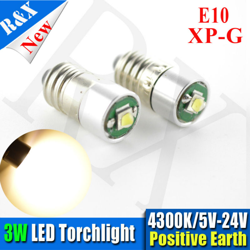 Pair High quality 3w Conversion/Upgrade XPG E10 Led Bulb For Petzl Zoom Duo Head Torch Headlight Lamps warm white 4300K