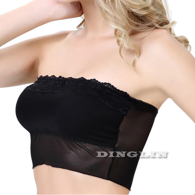eb02579c4a4 GZDL Sexy Women Padded Bustier Lace Bra Solid Corset Body Strapless Female  Lace Stretch Tops Cropped Tube Tops Chest Wrap BR5050