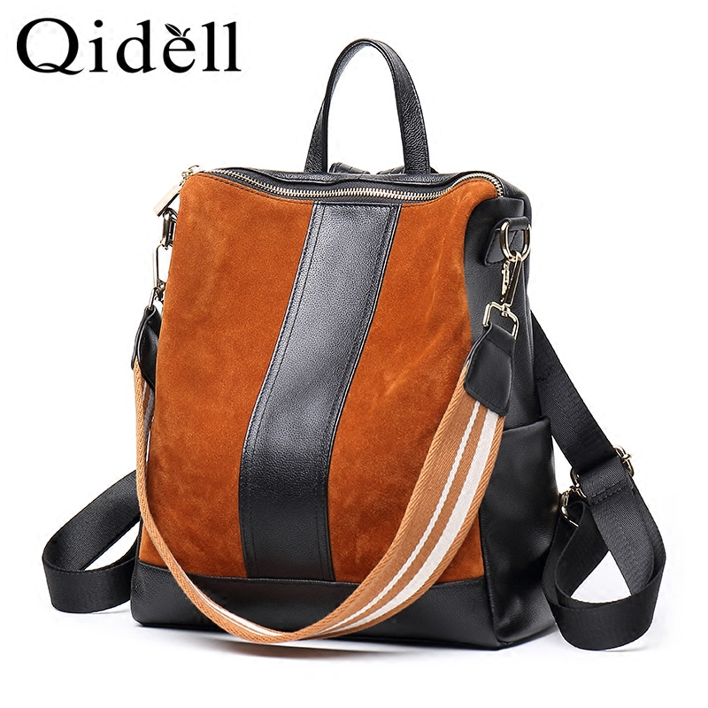 New Version Fashion Leather Women First Layer Backpack/ Female Classic Shoulder Bag