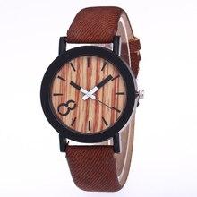 Для женщин повседневные часы деним дизайн кожаный ремешок мужской повседневное наручные Relogio Masculino
