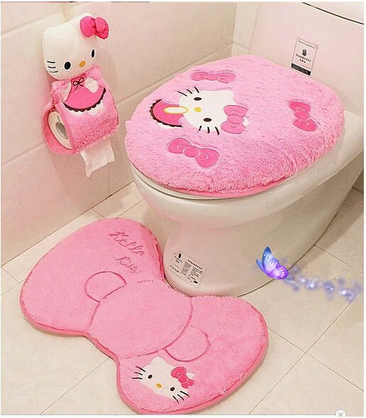 Free shipping hello kitty wedding room suite family of four tear - hello kitty potty