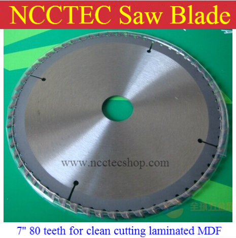 7'' 80 teeth carbide circular saw blade for clean cutting laminated MDF,pre laminated MDF,Plain MDF, Design MDF FREE Shipping 10 80 teeth t8a high carbon steel saw blade for expensive wood free shipping nwc108ht12 250mm super thin 1 2mm cut disk