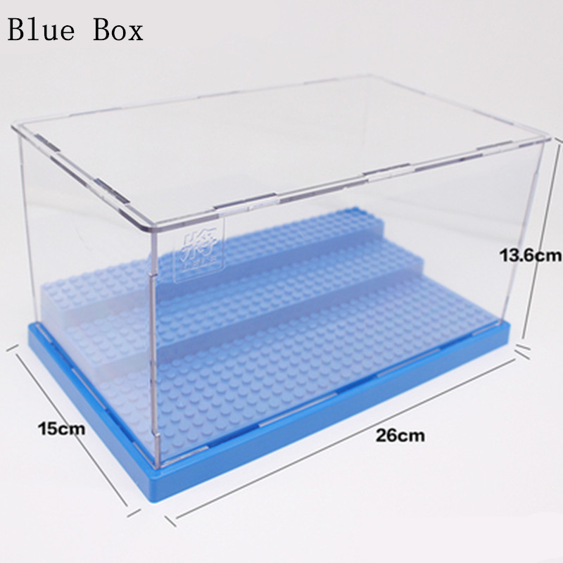 Diy Display Case/Box Dustproof Show Case Base Compatible for legoingly Acrylic Plastic Display Box Case Building Blocks Bricks