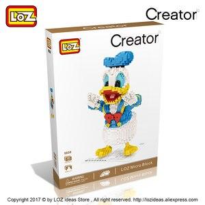 Image 4 - לוז מיקרו בלוקים חמוד Cartoon בעלי החיים פעולה איור אנימה יהלומי אבני בניין פלסטיק הרכבה צעצועי ילדים חינוכיים 9038