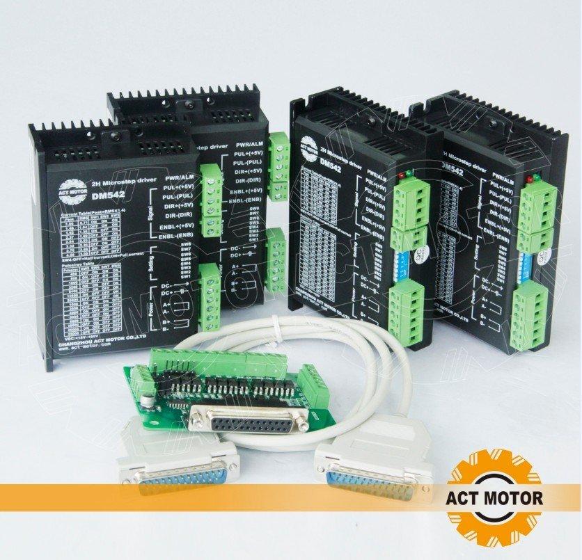 4 eixo 2 H Microstep motorista Cnc 4 axis stepper motor driver 128  micsteps, 4 2A corrente de pico, 18-50VDC