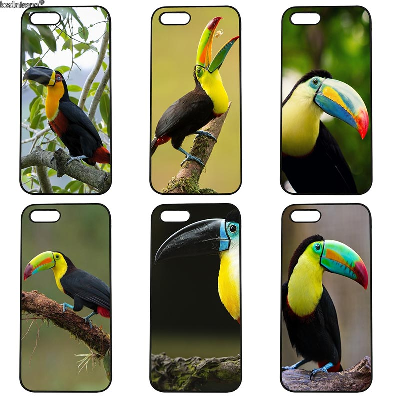 Cell Phone Case Tropical Toucans Hard Anti-knock Cover Fitted for iphone 8 7 6 6S Plus X 5S 5C 5 SE 4 4S iPod Touch 4 5 6 Shell