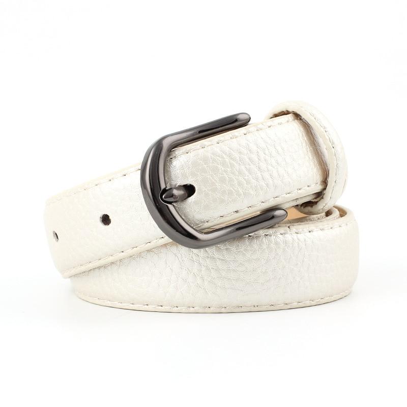 2018 New Designer Ladies Gold Pink Black White Wide Leather Belt Female Vintage Pin Buckle Waist Belts for Women Jeans Pants