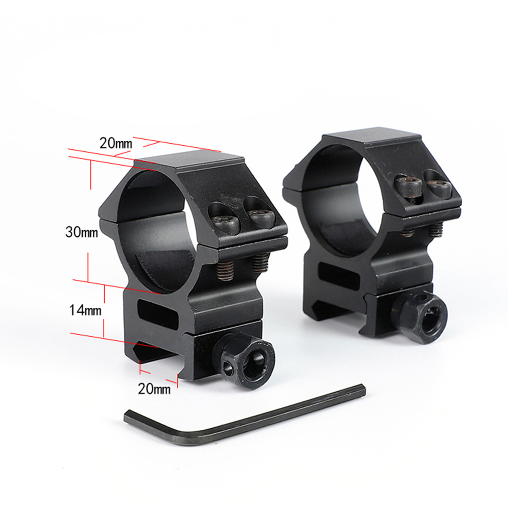 30mm 2PCs Medium Profile 20mm Picatinny Weaver Rings Tactical Hunting Scope Mounts Accessories
