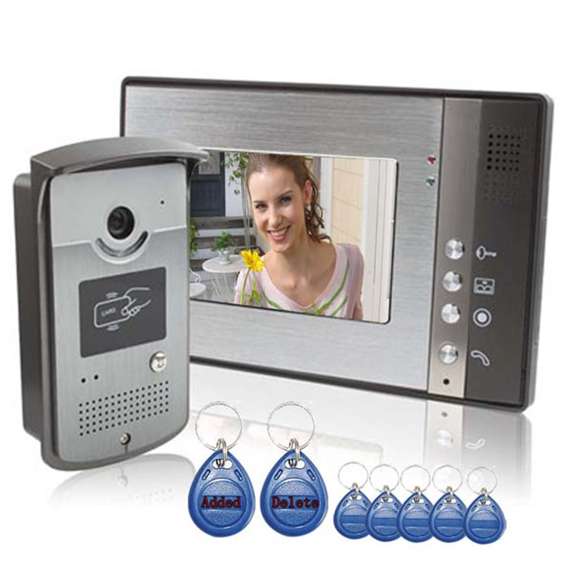7 ID Unlocking Color Video Door Phone and Electric-controlled Unlocking With Night Vision unlocking the negawatt