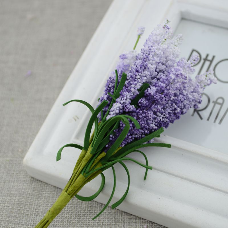 New Mini 10pcs DIY Wreath Material Artificial Flowers For Bride Wrist Flower 5